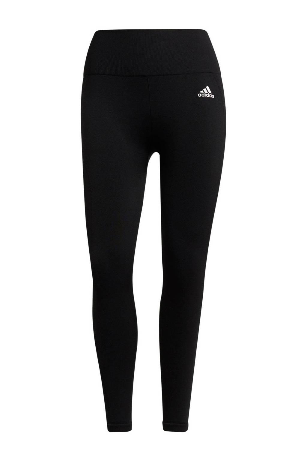 adidas Performance 7/8 sportlegging zwart/wit, Zwart/wit