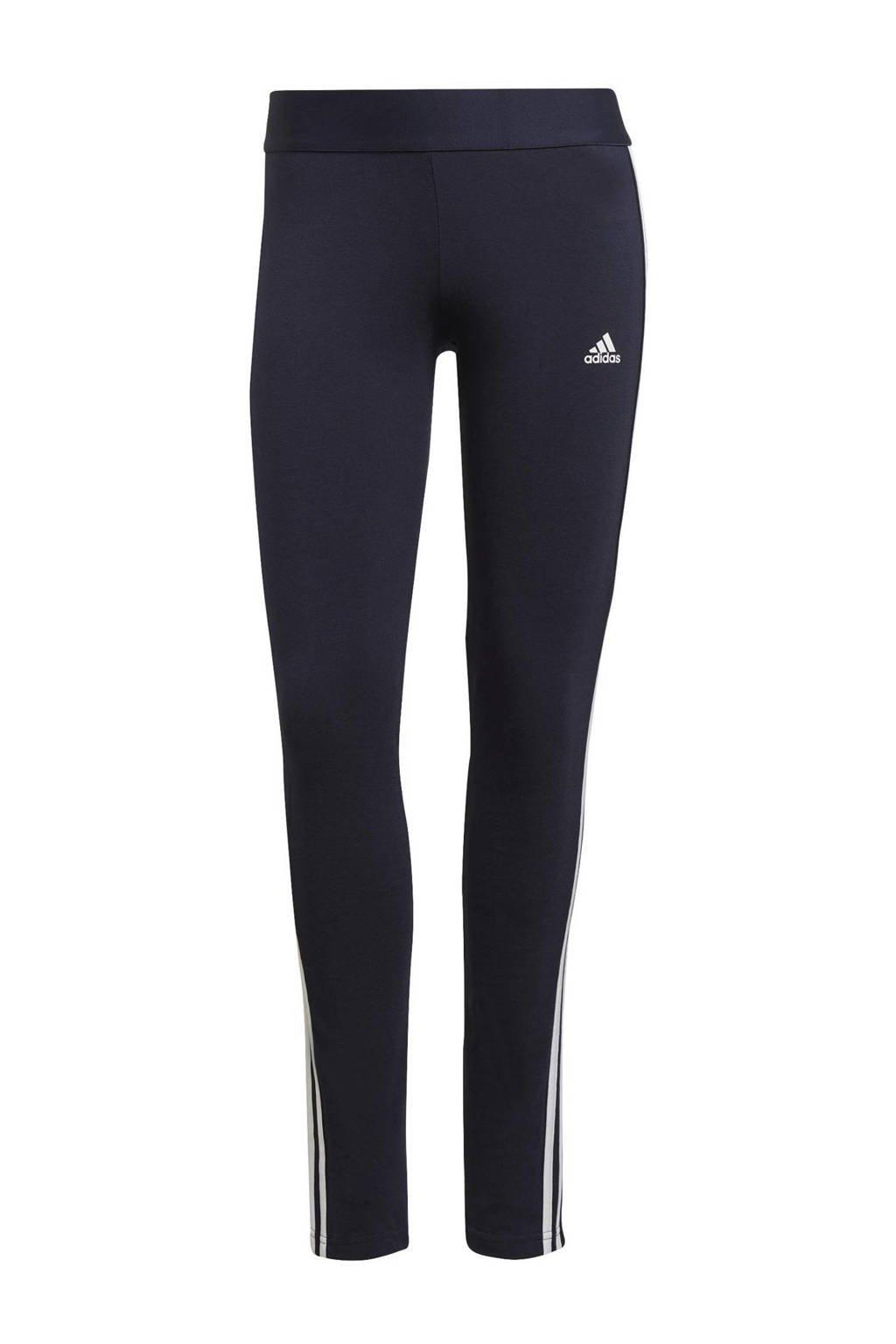 adidas Performance sportlegging donkergrijs/roze, Donkerblauw/wit