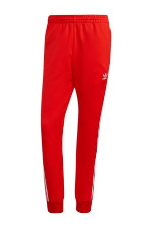 Super Star Adicolor trainingsbroek rood/wit
