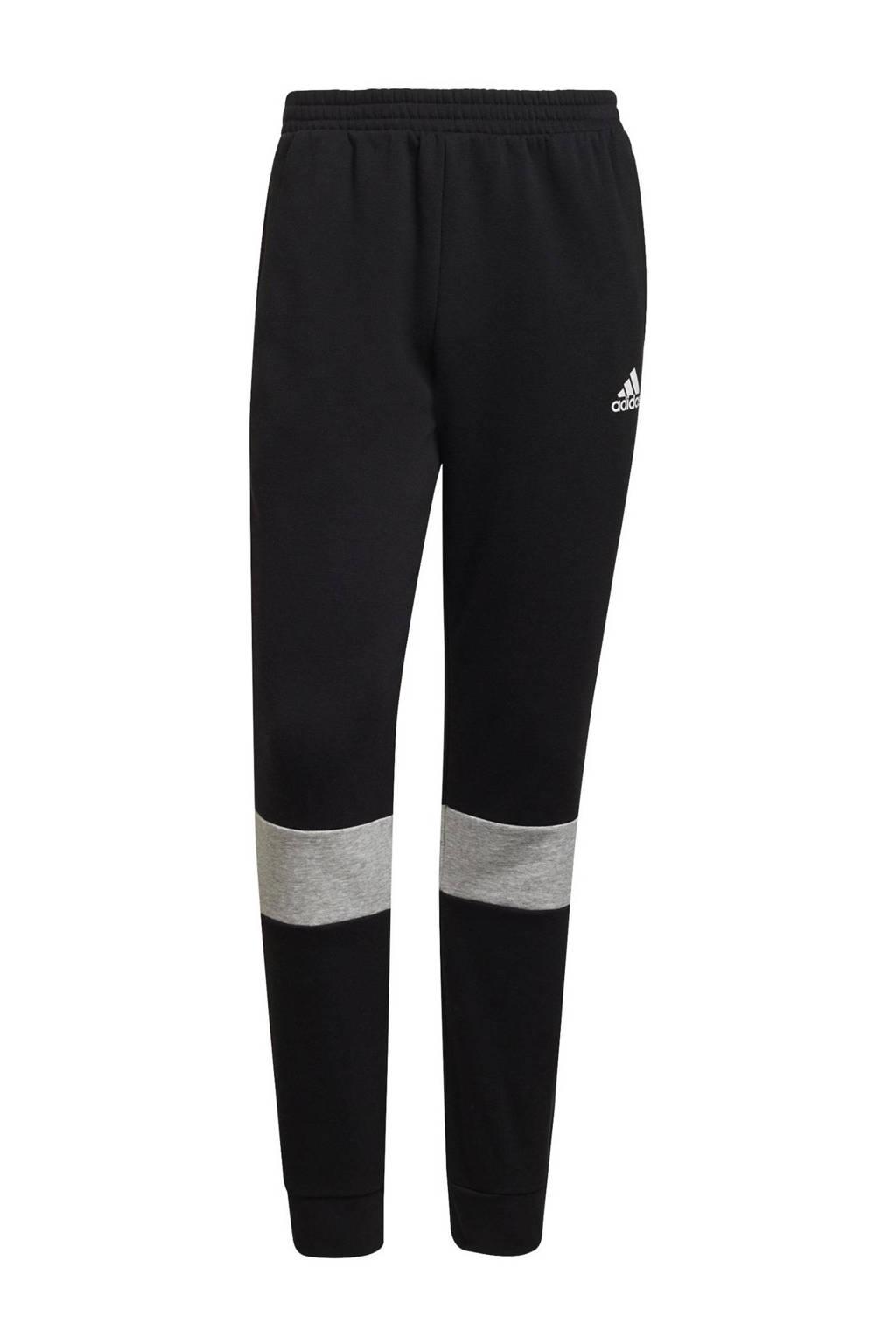 adidas Performance   joggingbroek zwart/wit/grijs, zwart/wit/grijs melange
