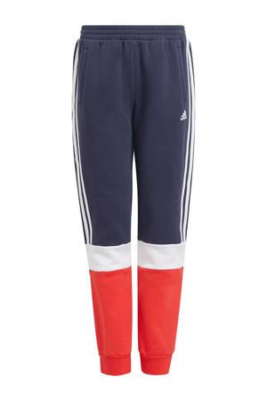 joggingbroek donkerblauw/rood/wit