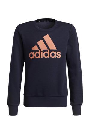 sportsweater donkerblauw/roze