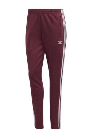 Super Star Adicolor joggingbroek donkerrood