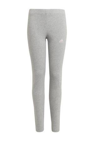 sportlegging grijs melange/roze