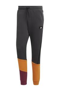 adidas Performance   joggingbroek antraciet/camel, Antraciet/zwart