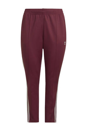Plus Size Superstar joggingbroek donkerrood/wit