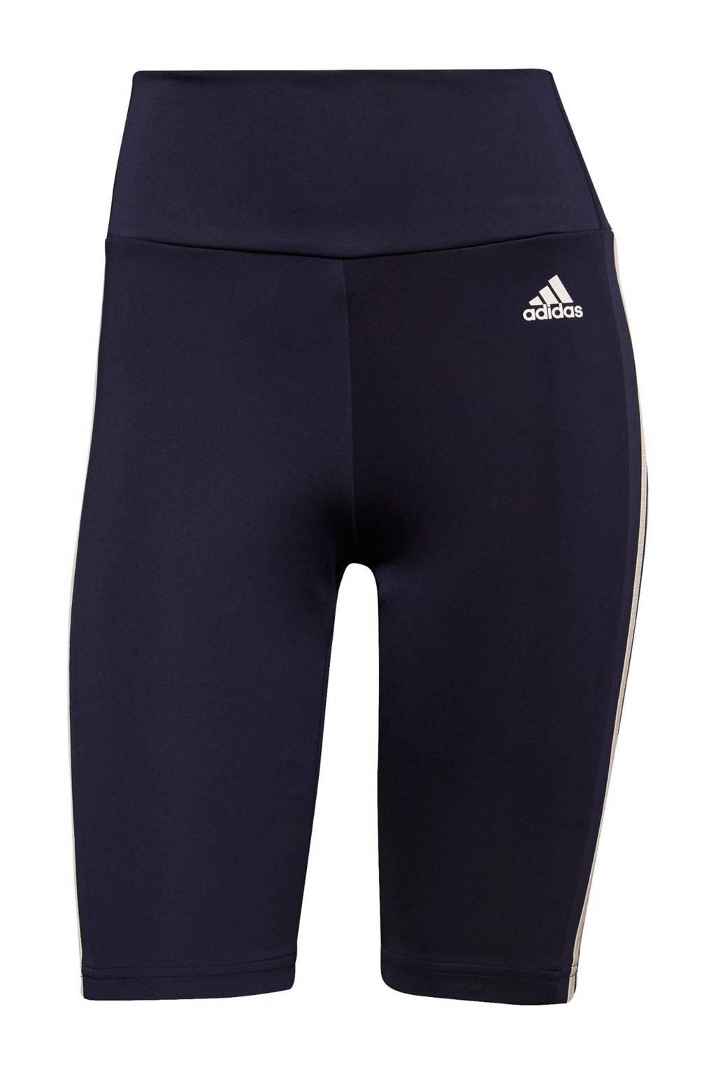 adidas Performance sportshort donkerblauw/wit, Donkerblauw/wit