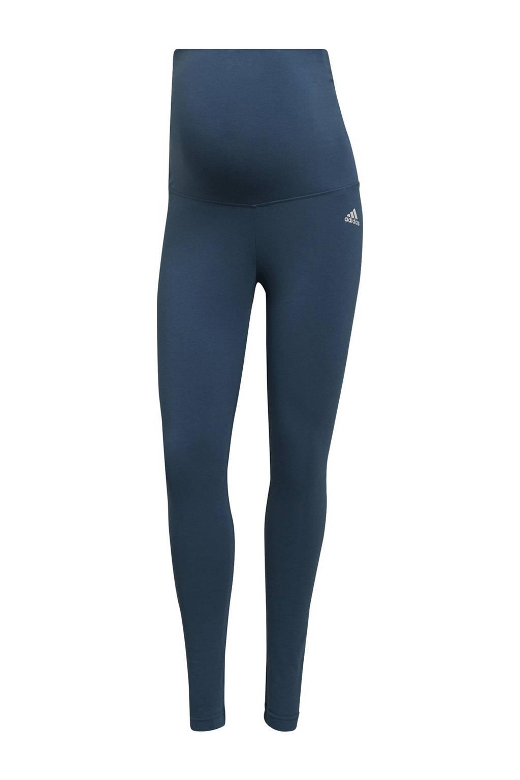 adidas Performance zwangerschaps sportlegging lichtblauw/wit, Lichtblauw/wit
