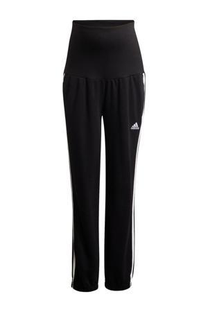 zwangerschaps joggingbroek zwart/wit