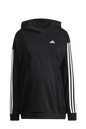 zwangerschapskleding zwangerschaps sportsweater zwart/wit
