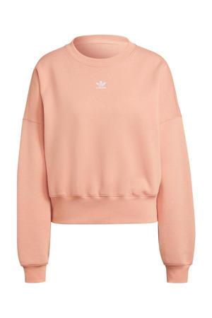 Adicolor fleece sweater roze