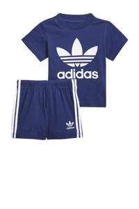 adidas Originals   Adicolor T-shirt en short donkerblauw/wit, Donkerblauw/wit