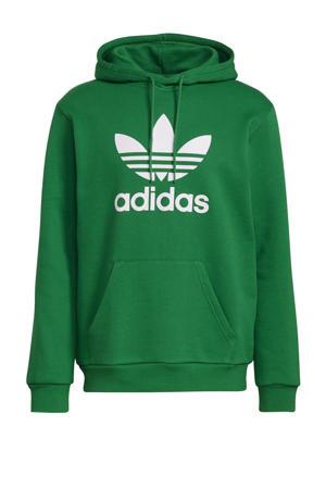 Adicolor hoodie groen/wit
