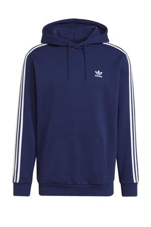 Adicolor fleece hoodie donkerblauw