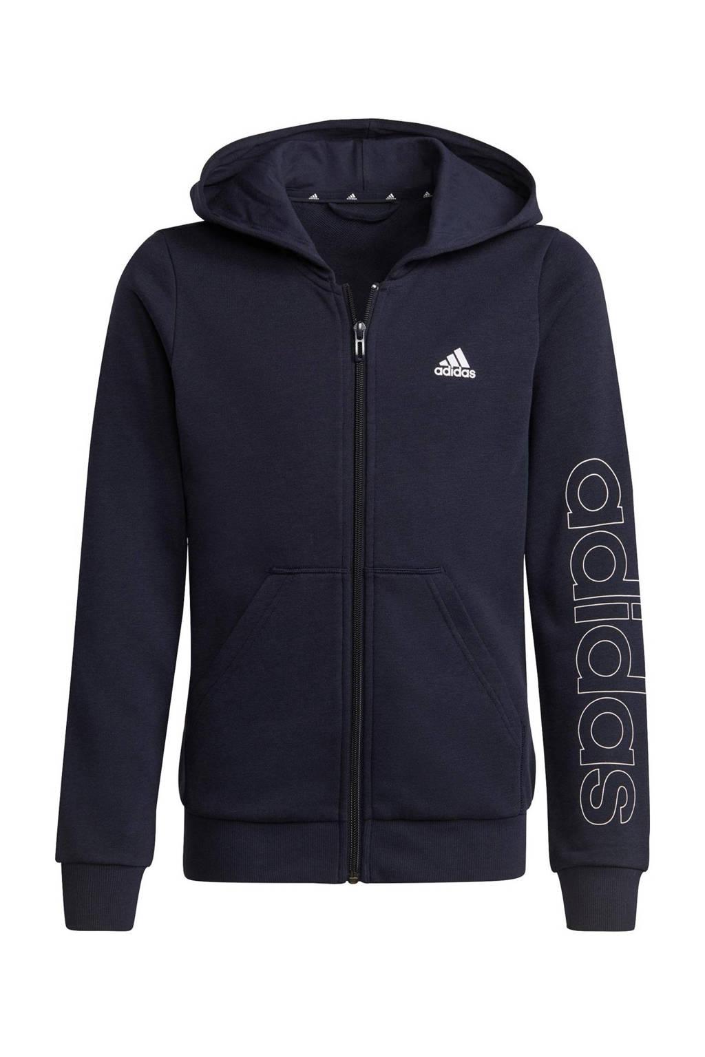 adidas Performance sportvest donkerblauw/wit, Donkerblauw/wit