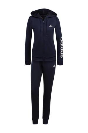 joggingpak donkerblauw/wit