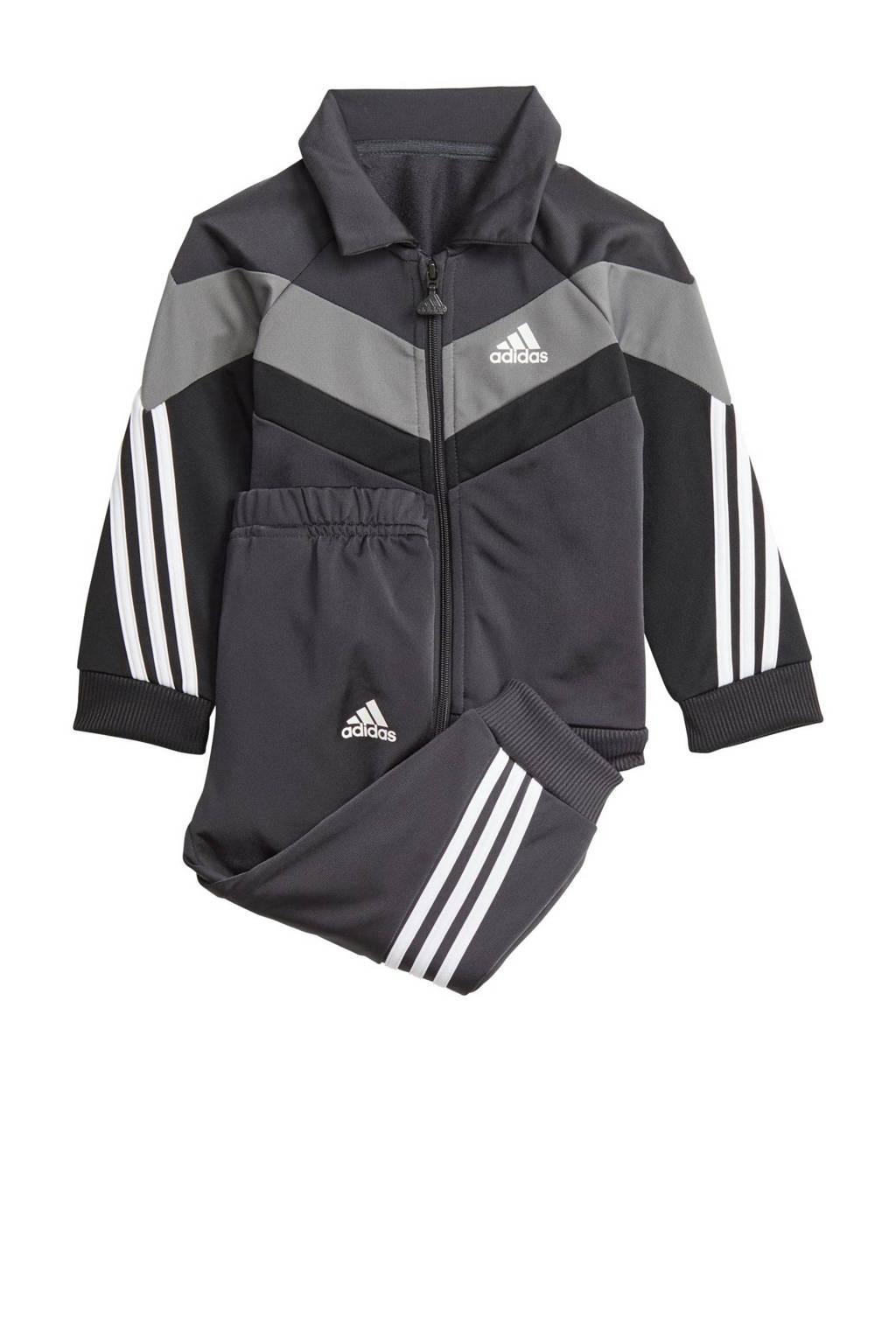 adidas Performance   trainingspak antraciet/zwart/wit, Antraciet/wit/zwart