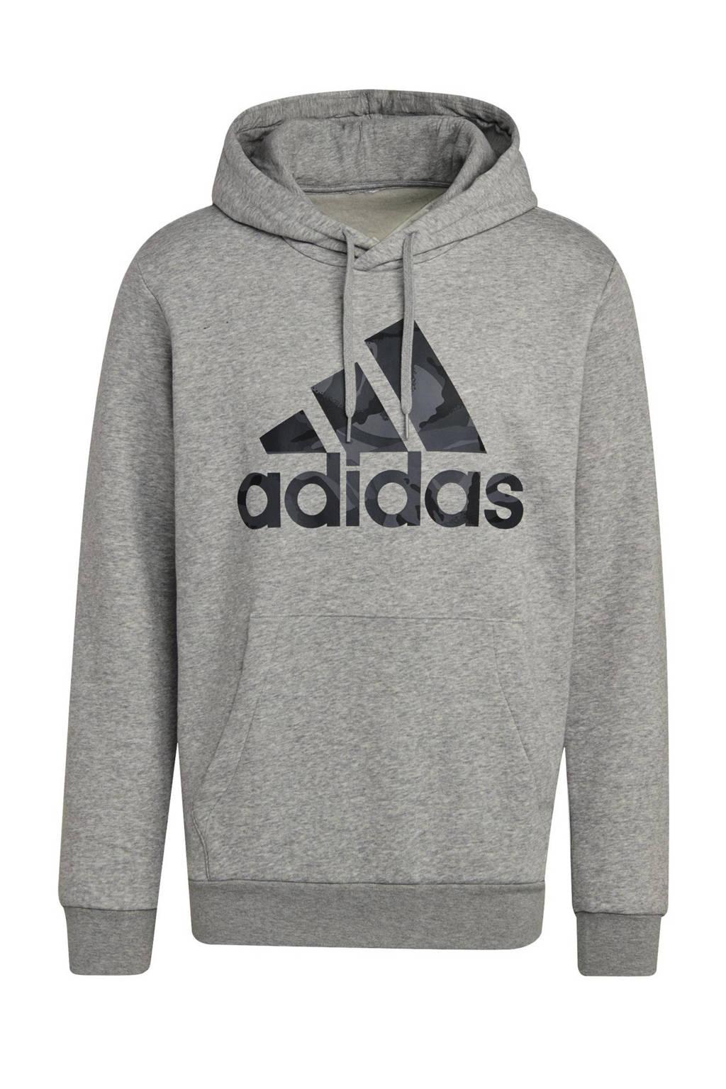 adidas Performance   fleece sportsweater grijs melange, Grijs melange
