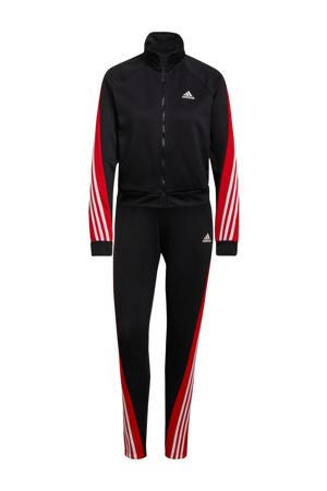 trainingspak zwart/rood/wit