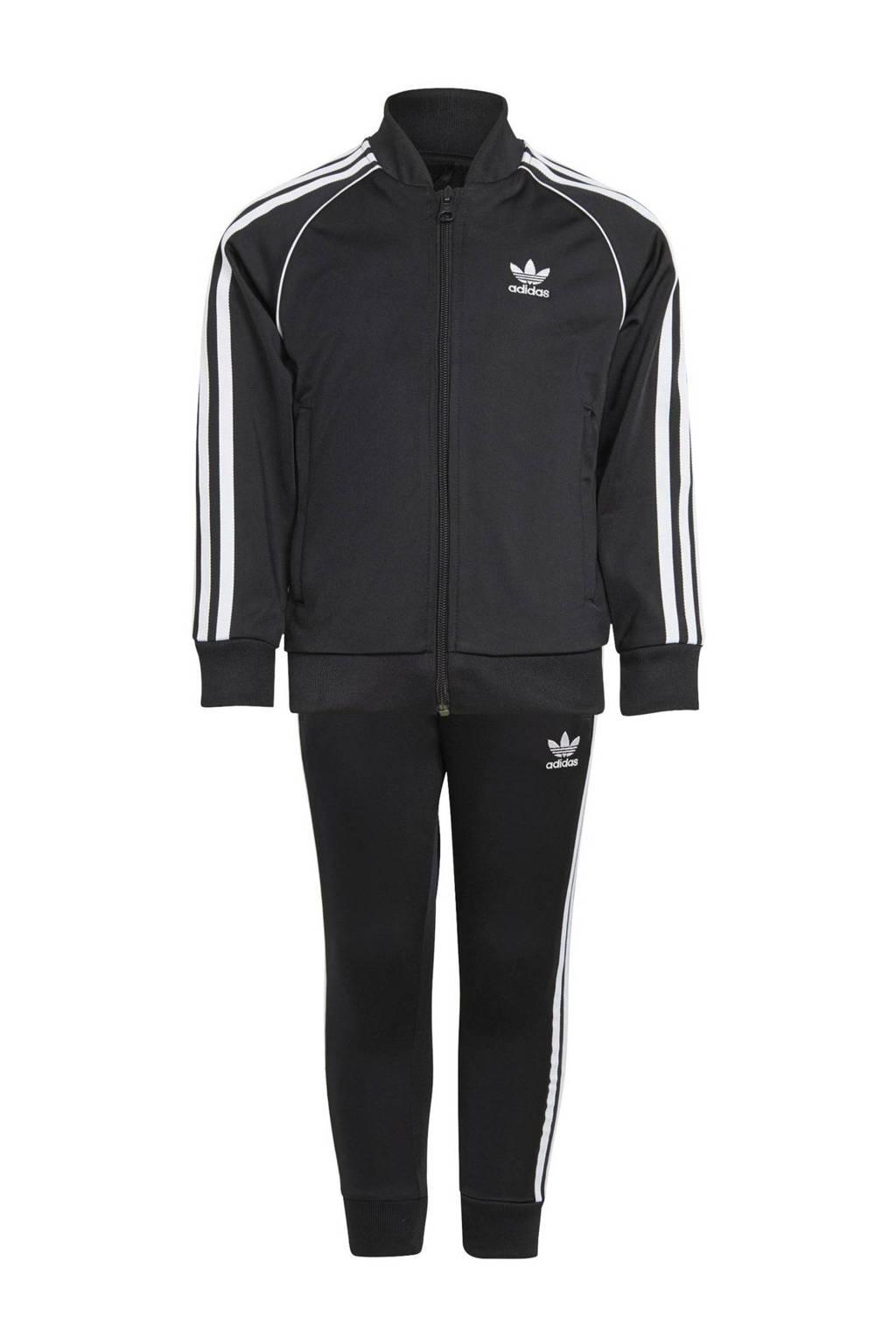 adidas Originals   Super Star Adicolor trainingspak zwart/wit, Zwart/wit