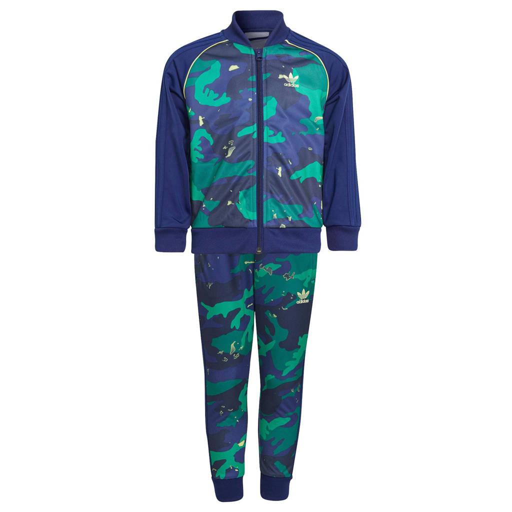 adidas Originals   Superstar trainingspak donkerblauw//roze/multicolor