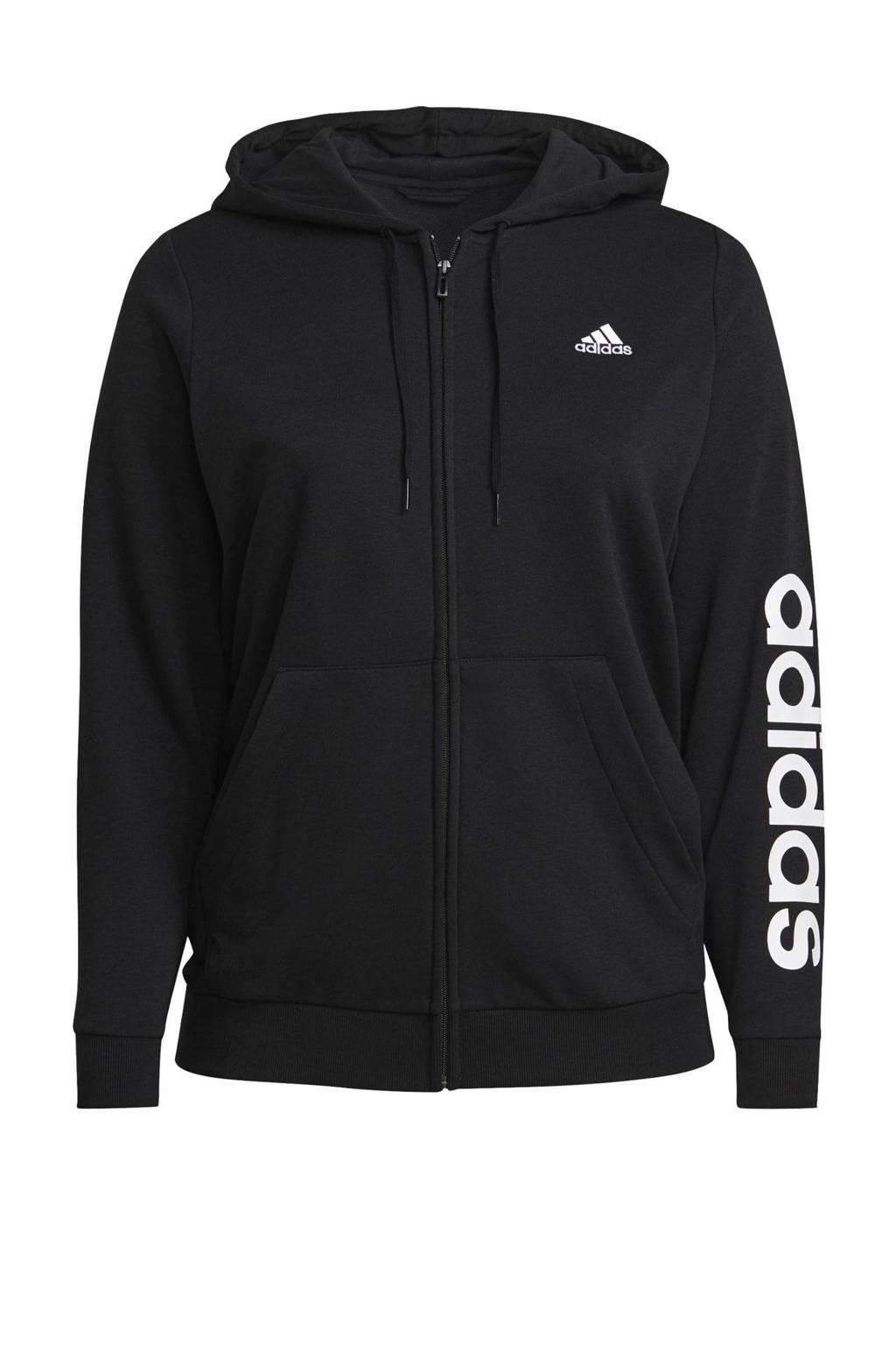 adidas Performance Plus Size sportvest zwart/wit, Zwart/wit