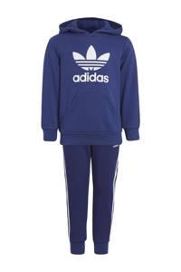 adidas Originals   Adicolor trainingspak donkerblauw/wit, Donkerblauw/wit