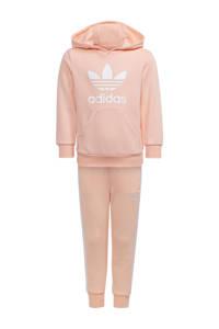 adidas Originals   Adicolor trainingspak lichtroze/wit, Lichtroze/wit