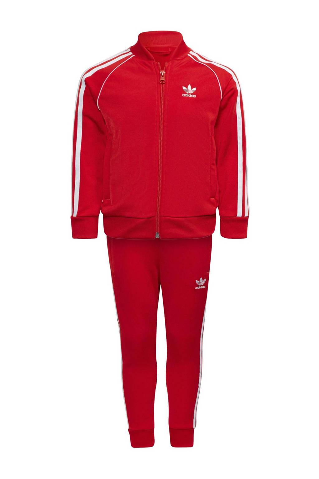 adidas Originals   Super Star Adicolor trainingspak rood/wit, Rood/wit