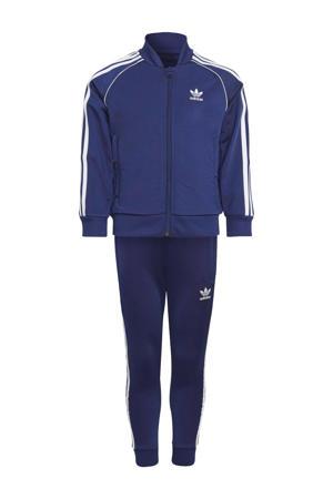 Super Star Adicolor trainingspak donkerblauw/wit