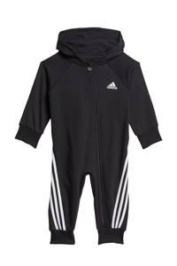 adidas Performance fleece onesie zwart/wit, Zwart/wit