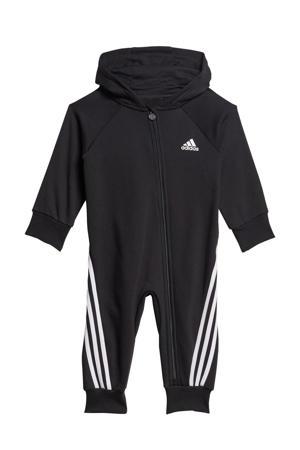 fleece onesie zwart/wit
