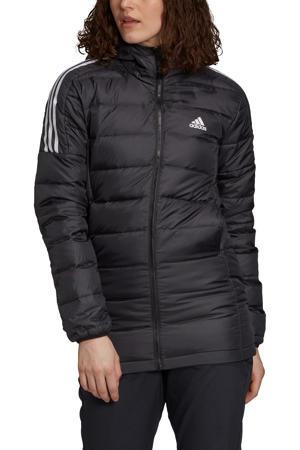 outdoor jas zwart/wit