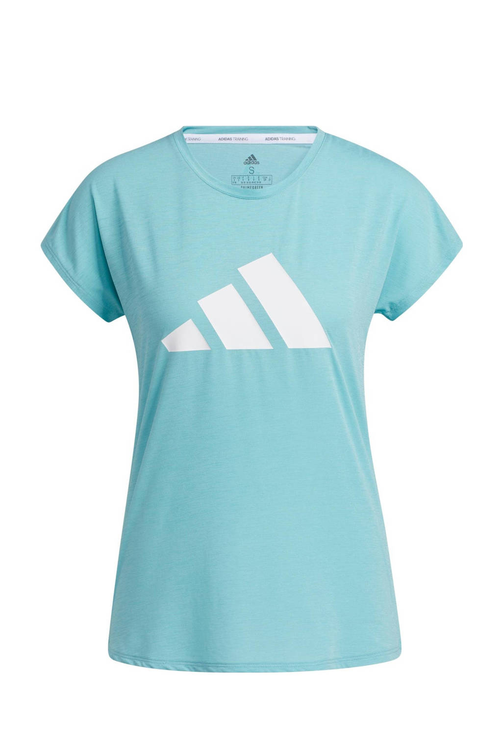 adidas Performance sport T-shirt mintgroen/wit, Mintgroen/wit