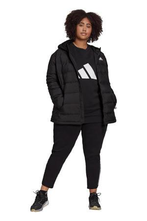 Plus Size outdoor jas zwart