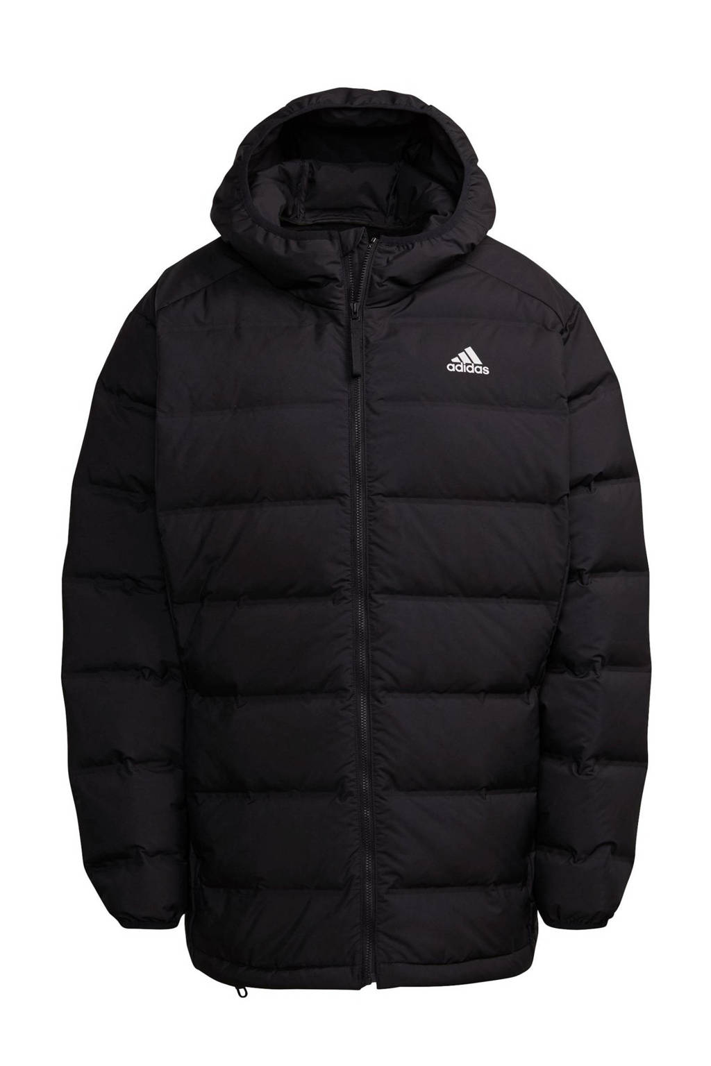 adidas Performance Plus Size outdoor jas zwart, Zwart