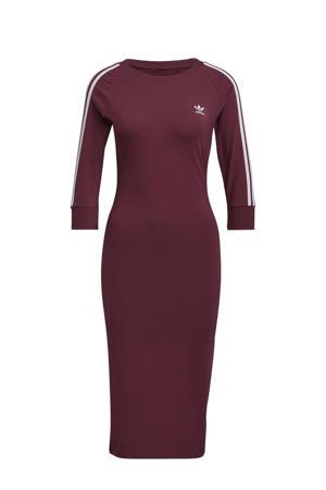 Adicolor jurk donkerrood