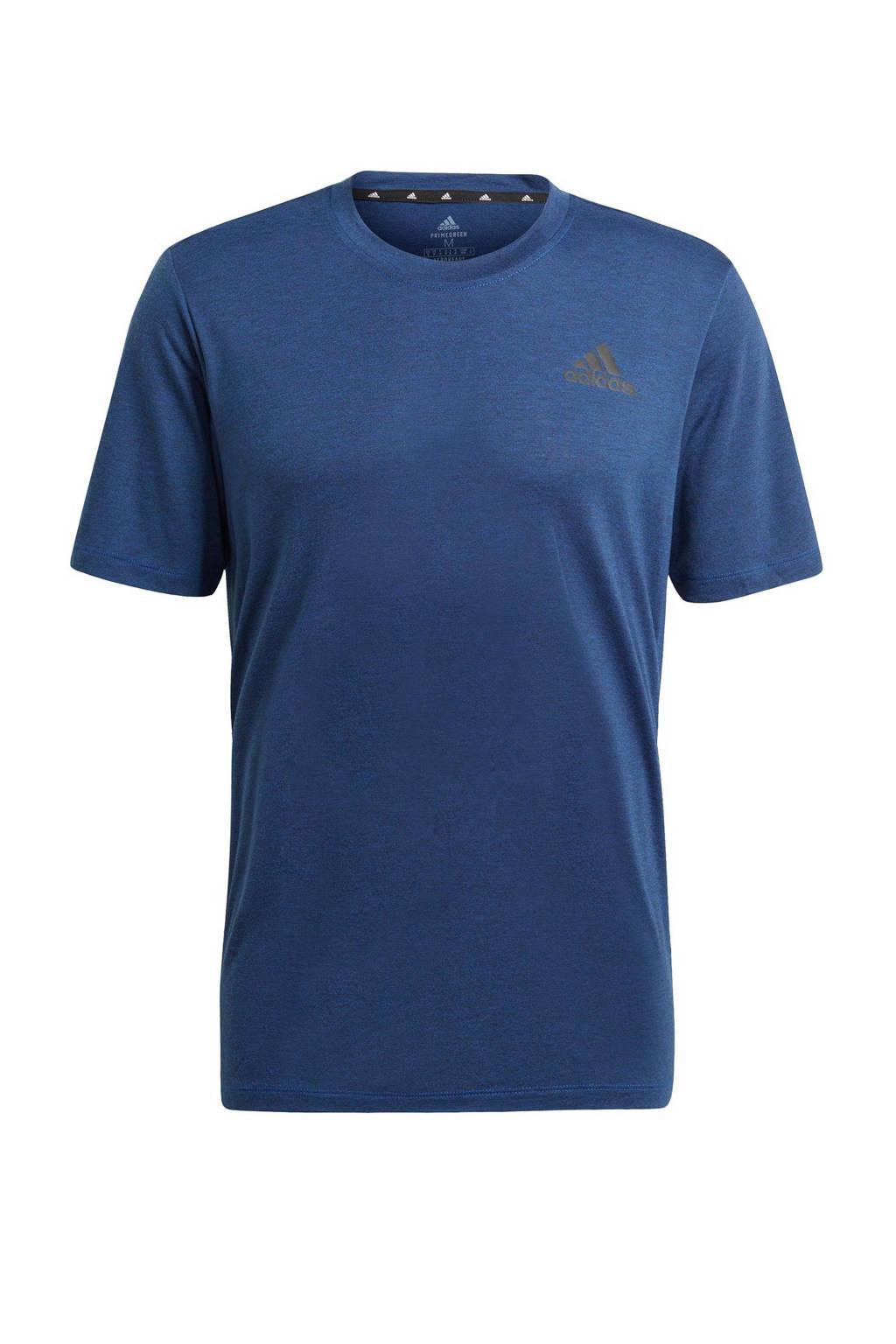 adidas Performance   sport T-shirt blauw/zwart, Blauw/zwart