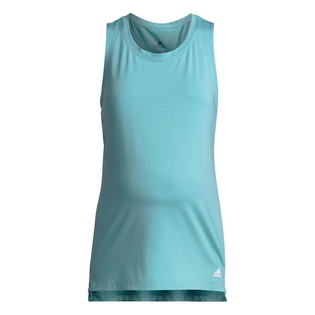 adidas Performance zwangerschaps sporttop lichtblauw, Lichtblauw/wit