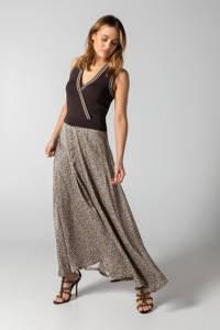 Claudia Sträter jurk met contrastbies zwart/ecru, Zwart/ecru