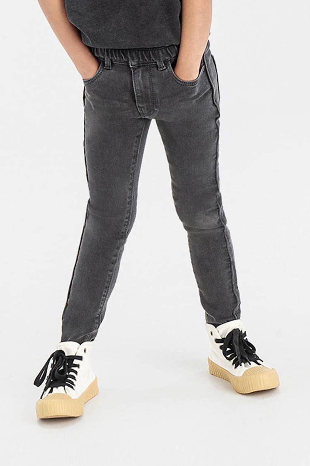 Shoeby Jill & Mitch high waist skinny fit jeans Paperbag zwart, Zwart
