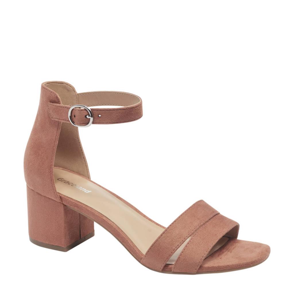 Graceland   sandalettes oudroze, Oudroze