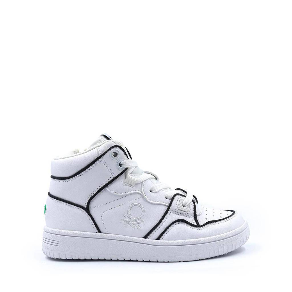 Benetton Rod Reflective  hoge sneakers wit, Wit