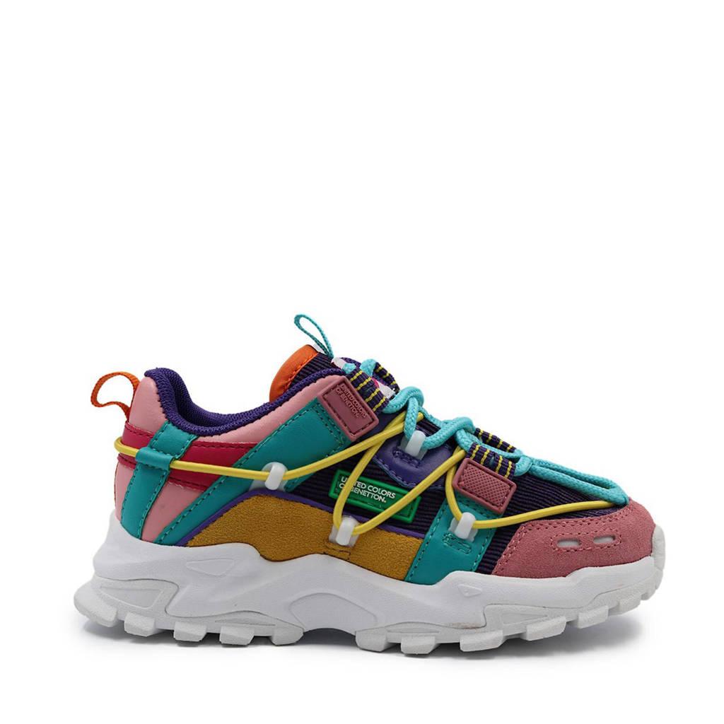 Benetton Flow Corduroy  chunky sneakers roze/multi, Roze/multi