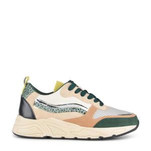 Carocel  sneakers met panterprint groen/multi