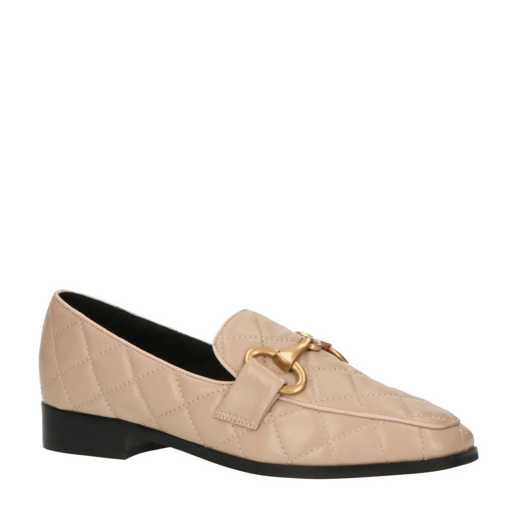 Bibi Lou Angelique  leren loafers beige, Beige