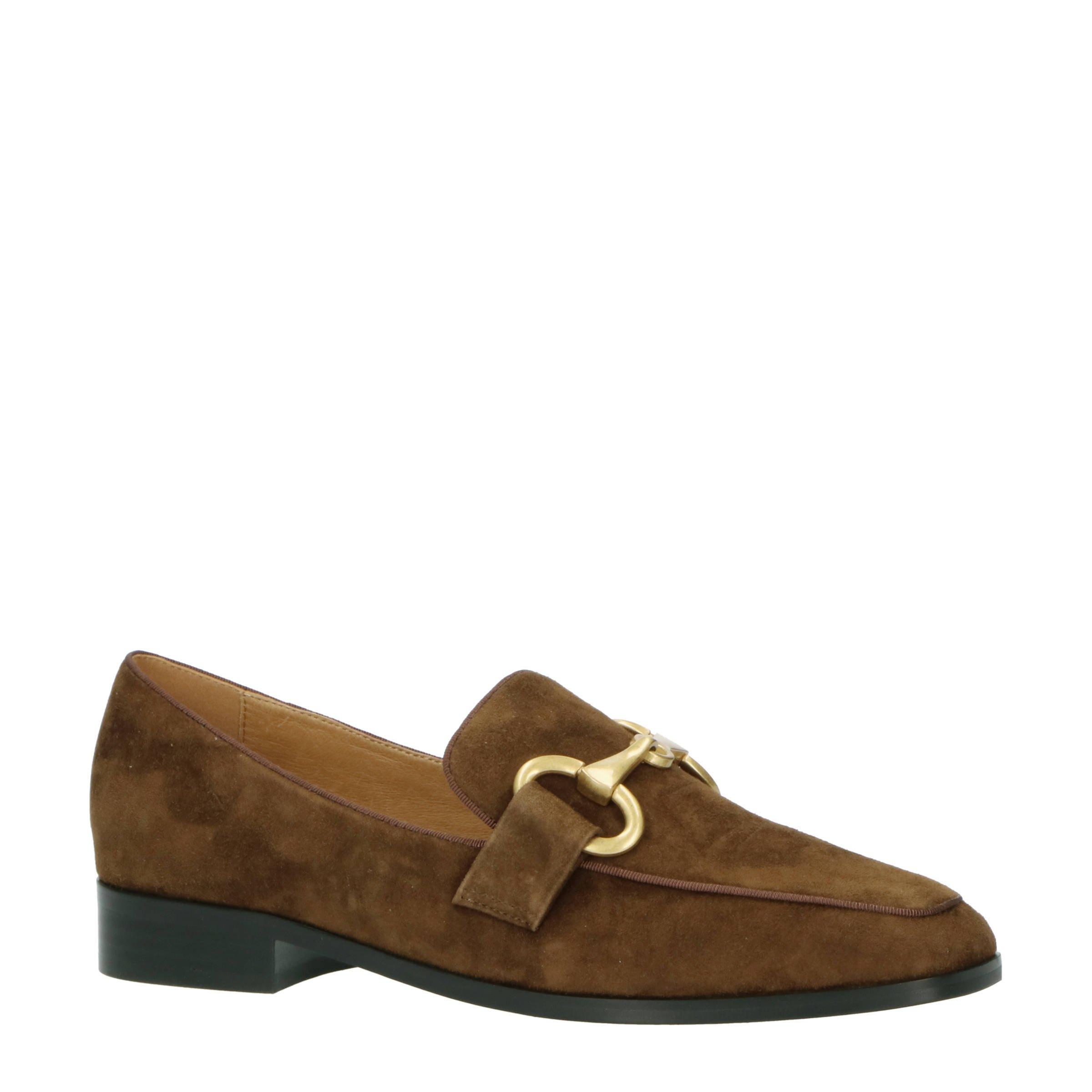 Bibi Lou Wahiba suède loafers bruin online kopen