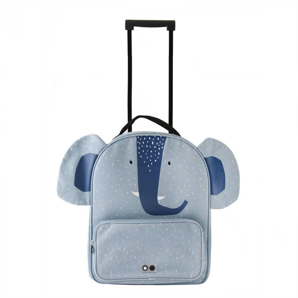 Trixie trolley Mrs. Elephant lichtblauw, Lichtblauw