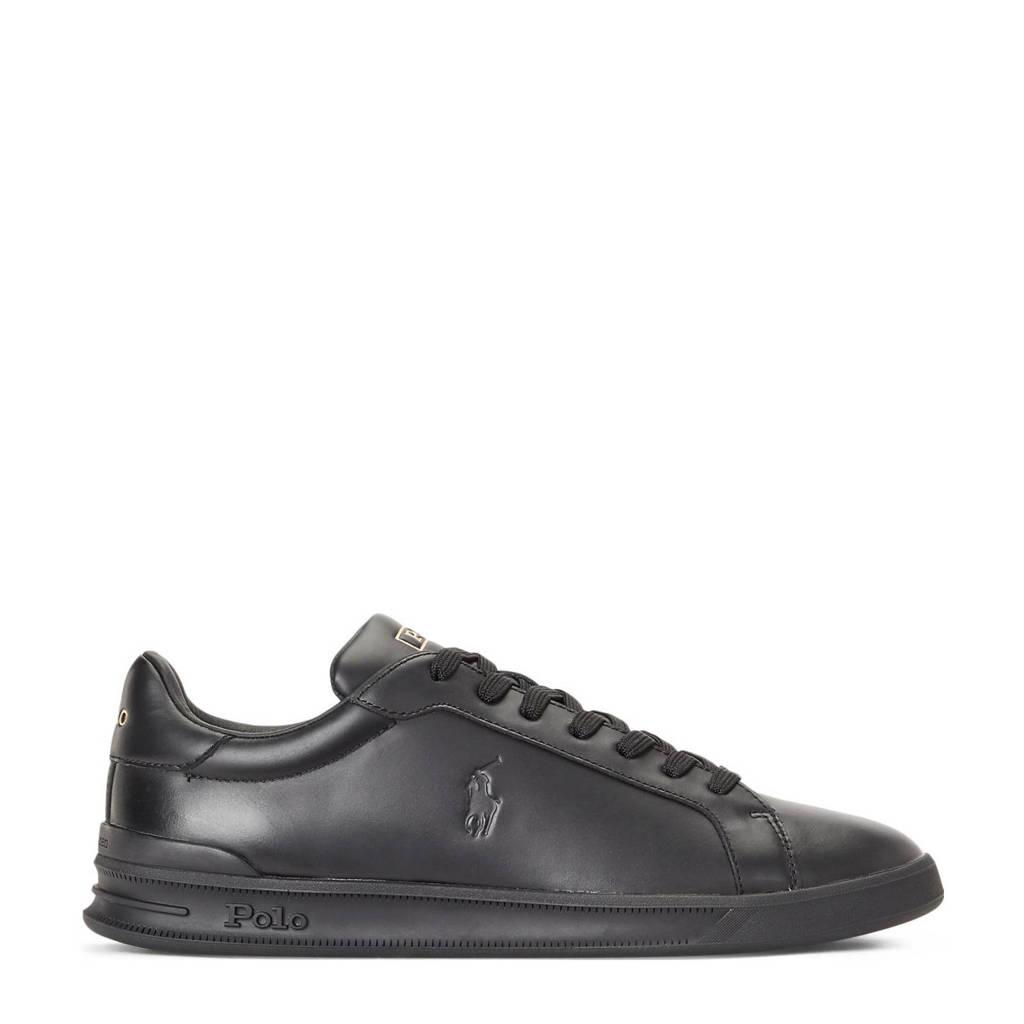 POLO Ralph Lauren Heritage Court II  leren sneakers zwart, Zwart
