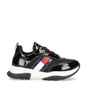 lak sneakers zwart